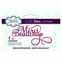 Creative Expressions - Mini Expressions Collection - Merci Beaucoup - CEDFME007