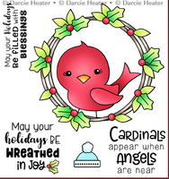 Darcie's - Clear Stamp Set - Cardinal in Wreath POL478
