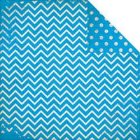 BoBunny Double Dot - Brilliant Blue Chevron - 12