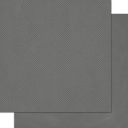 "BoBunny Double Dot - Charcoal - 12""x12"" Cardstock"
