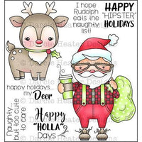 Happy Holla Days - Darcie's Home & Heart RubberStamp Set