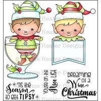 Tipsy Season - Darcie's Home & Heart Clear Stamp Set