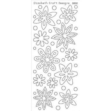 Elizabeth Craft Designs - Peel-Off Stickers - Velvet - Flowers - 3002