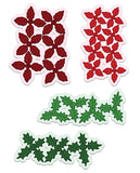 Heartfelt Creations - Poinsettia & Holly Clusters Die Set HCD1-7176