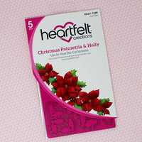 Christmas Poinsettia & Holly Die Set - HCD1-7249