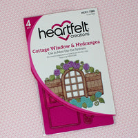 Heartfelt Creations - Cottage Window & Hyrangea - HCD1-7280