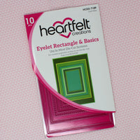 Heartfelt Creations - Eyelet Rectangle & Basics Die (HCD2-7189)