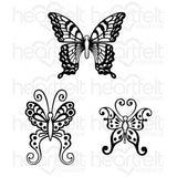 Botanical Wings Cling Stamp Set HCPC3652