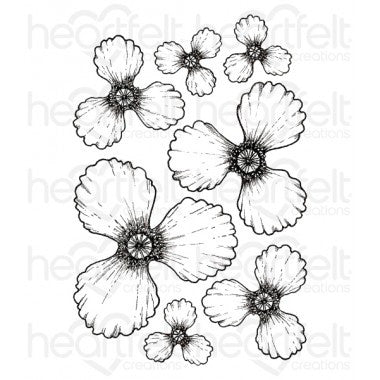 Blazing Poppy Petals Cling Stamp Set