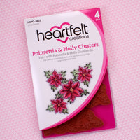 Heartfelt Creations - Poinsettia & Holly Clusters Stamp Set HCPC-3822