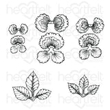 Cheery Pansy Cling Stamp Set - HCPC-3862