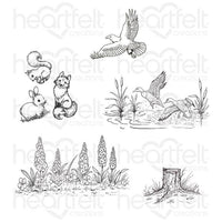 HCPC-3896 - Create a 'Scape Nature Cling Stamp Set