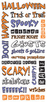 Sandy Lion Stickers - Halloween Collection - Halloween Words