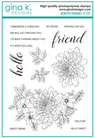 Gina K - Clear Stamp Set - Heartfelt Bouquet