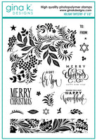 Gina K - Clear Stamp Set - Holiday Tapestry