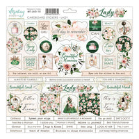 Mintay - Chipboard Sticker Sheet 12