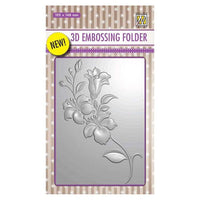 Nellie's Choice 4 x 6 3D Embossing Folder - Branch with Flowers