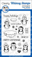Whimsy - Clear Stamp Set - Penguins Winter adventure - CWSD146
