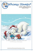 Whimsy - Cling Rubber Stamp - Polar Bear and Seal - C1329