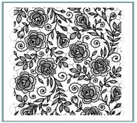 Gina K - Rubber Stamp - Rose Lace