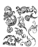 Tim Holtz - Stampers Anonymous - Scrollwork Stamp Set