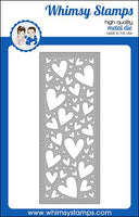 Whimsy - Slimline Hearts Background Die - WSD513