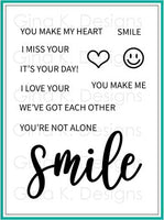 Gina K - Clear Stamp Set - Smile