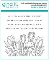 Gina K - Clear Stamp Set - Spring Tulips