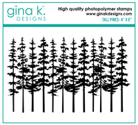 Gina K - Clear Stamp Set - Tall Pine