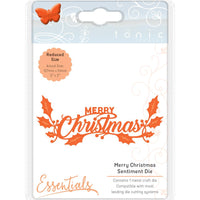 Tonic Studios Essentials Miniature Moments Sentiment Die - Merry Christmas 5