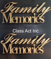 ICraft Wooden Embellishments - Family Memories
