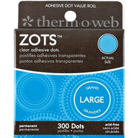 Zots Clear Adhesive Dots - Large