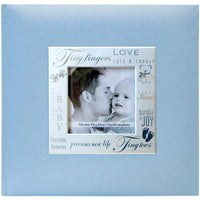 MBI-Fabric Expressions Blue Baby Photo Album
