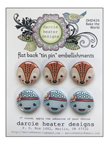 Darcie Heater Designs Flat Back Tin Pin - Bake the World - DHD426
