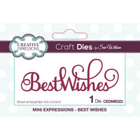 Creative Expression - Metal Die - Best Wishes - CEDME023