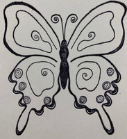 Class Act - Butterly Swirl Rubber Stamp