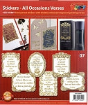 Peel Off Stickers - All Occasions Verses #07 Gold - GS652807