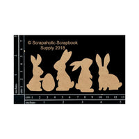 Scrapaholics - Bunnies Chipboard