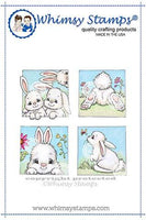 Whimsy - Cling Rubber Stamp - Bunny Spring Squares - C1314
