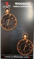 ICraft Wooden Embellishments - Pocket Watch