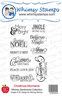 Whimsy - Cling Rubber Stamp - Christmas Moments - 10265