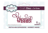 Creative Expressions Dies: Mini Expressions Collection Warmest Wishes - CEDME018