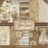 "Stamperia - Old Lace - Paper Pad 12""X12"" 10/Pkg"
