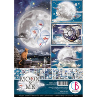 Ciao Bella - Double-Sided Creative Pack 90lb A4 9/Pkg - Moon & Me