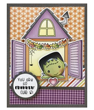 Darcie's Clear Polymer Stamp Set - Peeking Ghouls - POL401