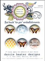 Darcie Heater Tin Pin - Butterflies - DHD26