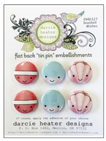 Tin Pin - Seashell Wishes DHD327 - Flat Back Pins