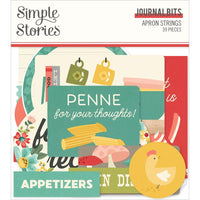 Simple Stories - Apron Strings Bits & Pieces Die-Cuts 39/Pkg - Journal
