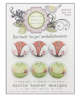 Darcie Heater Designs Flat Back Tin Pin - Bee-ing There - DHD346