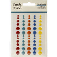 Simple Stories - Bro & Co. Enamel Dots Embellishments 60/Pkg